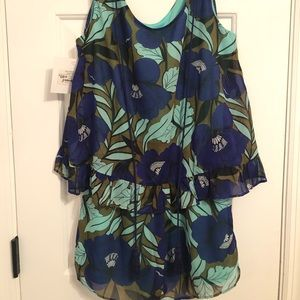 Judith March spring floral romper NWT size small